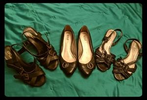 3 size 9 black casual dressy shoes